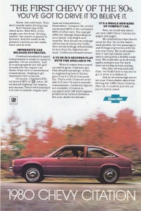 ads - 1980 Chevy Citation Hatchback fm 1979-07 National Geographic Magazine