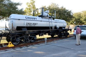 Crosby Chemical Tank Car CROX2027 at Station Picayune, MS 2014-2-15