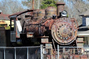 SRR Steam Engine at Station Hattisburg, MS 2014-2-15